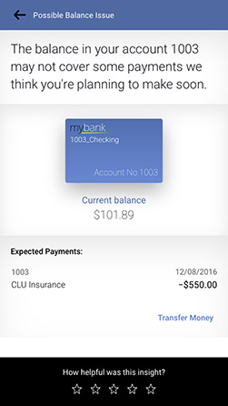 personetics engage low account balance warning