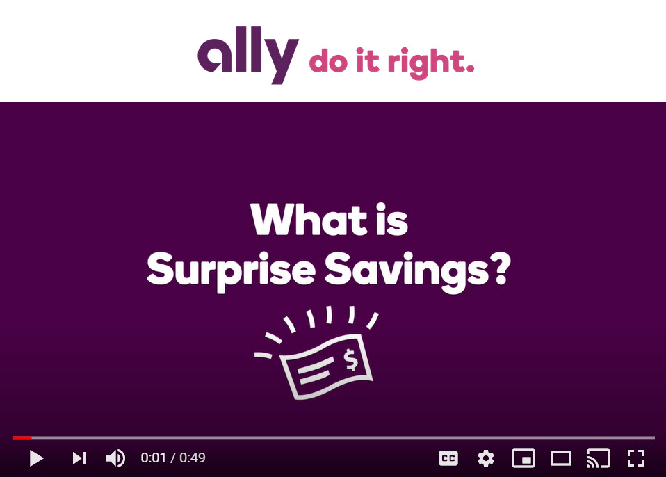 Ally Bank – What is Surprise Savings?