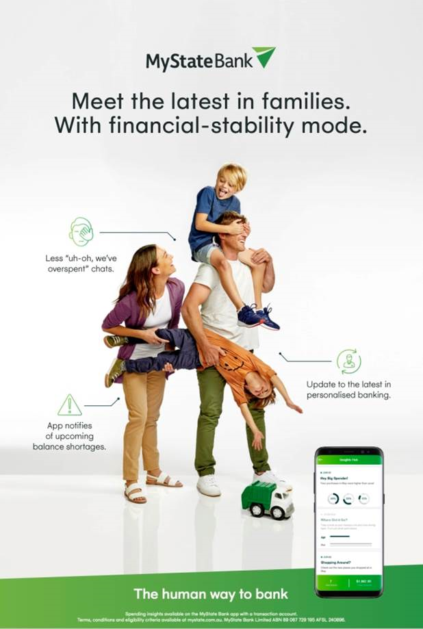 New from MyState Bank. Digitally enhanced, less stressed customers with Automated Financial Resilience Programs